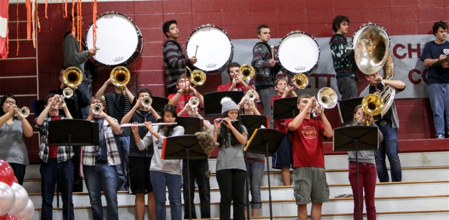 Pep Band Rocks The Crowd